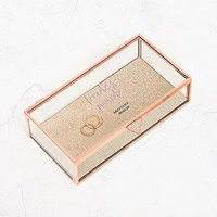 Large Personalised Rectangle Glass Jewellery Box - Bridesmaid