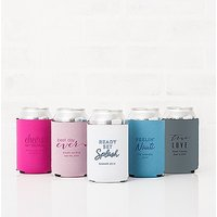 Custom Neoprene Foam Beer Can Drink Holder - Light Blue