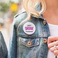 Personalised Bridal Party Wedding Pins - Just Glam Drunk
