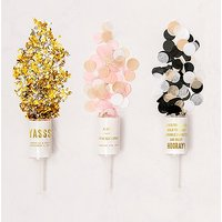 Personalised Push-Up Confetti Popper - Celebrate - Metallic Gold And Silver