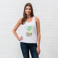 Personalised Bridal Party Wedding Tank Top - Tropical Bride - Small Blush