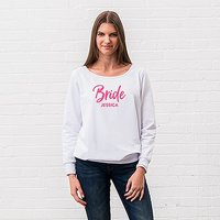 Personalised Bridal Party Wedding Sweatshirt - Bride - Medium Black