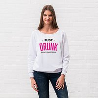 Personalised Bridal Party Wedding Sweatshirt - Just Drunk - X-Small White