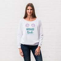 Personalised Bridal Party Wedding Sweatshirt - Mermaid Bride - Small Black