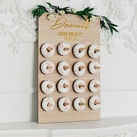 Personalised Wooden Donut Wall Display - Donuts