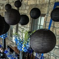 Round Paper Lanterns - Small - Aqua Blue