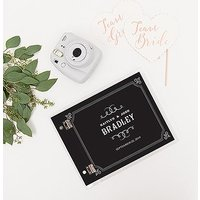 Personalised Clear Acrylic Polaroid Wedding Guest Book - Chalkboard