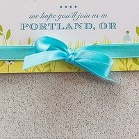 Personalised and Plain Ribbon - Extra Wide Large Sea Blue