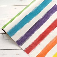 20 Painted Stripe Paper Table Runner