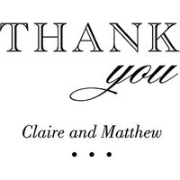 Burlap Chic Thank You Personalised Rubber Stamp