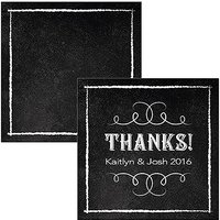Square Favour Tag with Chalkboard Print Design