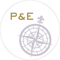 Vintage Travel Engraved Personalised Round Acrylic Block Cake Topper - Compass