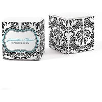Love Bird Damask Cube Favour Box Wrap