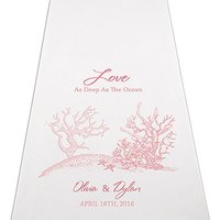 Reef Coral Personalised Aisle Runner