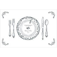 Antique Chic Personalised Paper Place Mat - Table Setting