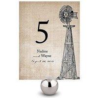 Rustic Country Table Number