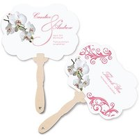 Classic Orchid Personalised Hand Fan