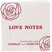 Notepad Favour with Personalised Rose Cover