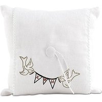 \Simply Sweet\ Birds with Love Pennant Personalised Ring Cushion