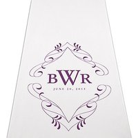 Flourish Monogram Personalised Aisle Runner