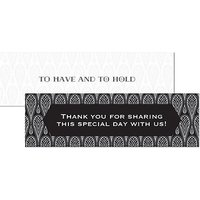 Black and Gold Opulence Small Rectangular Tag