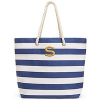 Extra Large Wide Stripe Cabana Tote - Navy