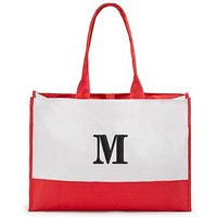 Colourblock Tote - Coral / Soft Red