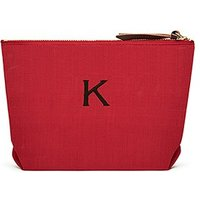 Napa Linen Cosmetic Bag - Red