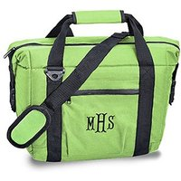 Personalised 12 Pack Green Beer Cooler Bag