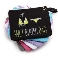 Waterproof Wet Bikini and Swimsuit Bag- Black