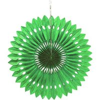 Paper Pinwheel Decor - Green
