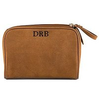 Tanned Genuine Leather Travel Bag - Personalised