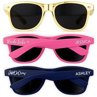 Bridal Party Personalised Sunglasses For Bachelorette - Pink
