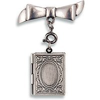 Vintage Book Locket - Antique Silver