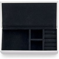 Vegan Leather Jewellery Box - White with Black