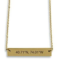 Horizontal Rectangle Tag Necklace - Coordinates