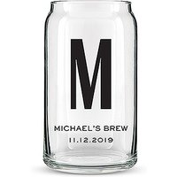Can Shaped Glass Personalised - Custom Monogram Print