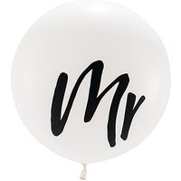 36 Jumbo White Round Wedding Balloon - Mr
