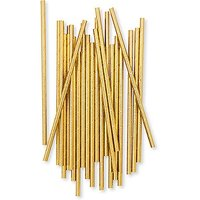 Gold Foil Fancy Paper Drinking Straws