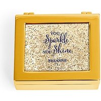 Small Personalised Modern Metal Jewellery Box - Sparkle Shine Glitter Print