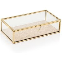 Glass Jewellery Box with Gold Edges