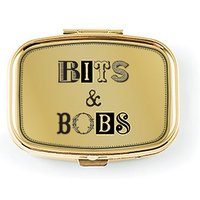 Bits & Bobs Small Gold Pocket/Purse Pill Box