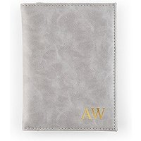 Passport Cover - Faux Leather - Grey