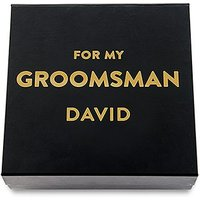Premium Gift Box - Groomsman in Metallic Gold - Black