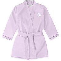 Personalised Flower Girl Satin Robe With Pockets - Lavender / Light Purple