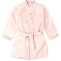 Personalised Flower Girl Satin Robe with Pockets - Blush Pink