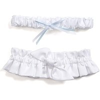Beverly Clarks Tie the Knot Bridal Garter Set - White