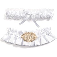 Beverly Clarks Luxe Bridal Garter Set - White