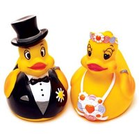 Bride or Groom Rubber Duck Wedding Favour - Groom