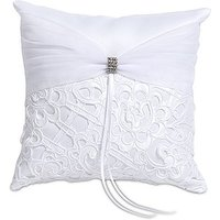 Bridal Tapestry Square Ring Cushion - Ivory